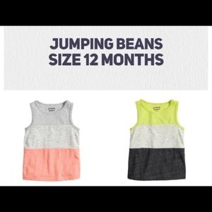 NWT. JUMPING BEANS Color Block Tops